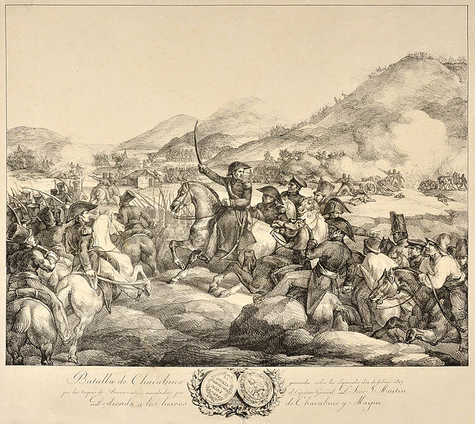 File:Batalla de Chacabuco. Litografía de Géricault.jpg ... Theodore G��ricault