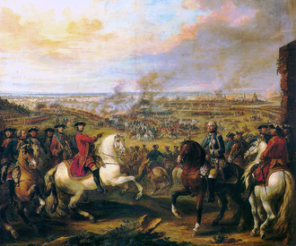 War of the Austrian Succession - The Battle of Fontenoy by Pierre L'Enfant. Oil on canvas.