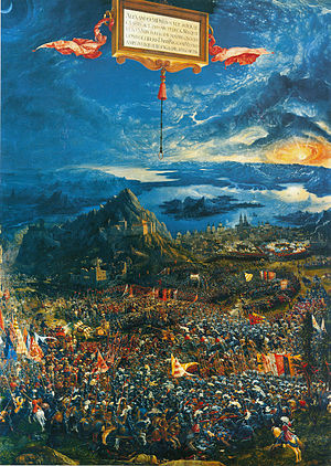1529 in art - Image: Battle of Issus by Altdorfer 1529 Pinakothek Mus Munich