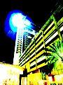 Beach Rotana Abu Dhabi - hotel tower at night - painting.jpg