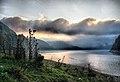 Beautiful Morning View from our Tent over Vidraru Lake, Transylvania - panoramio.jpg