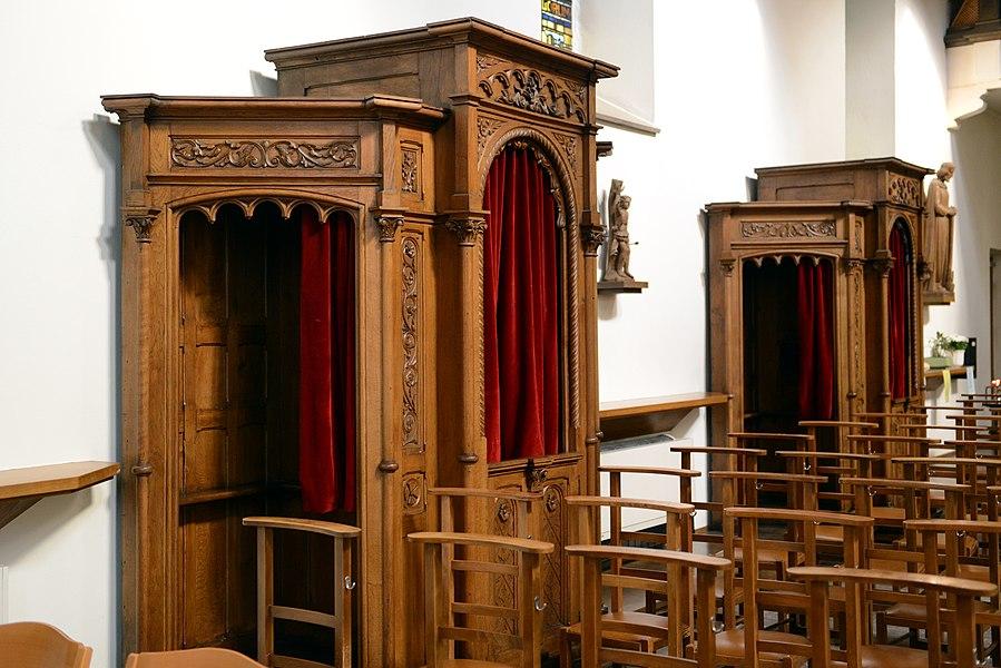 Beichtstill an der Beetebuerger Kierch.