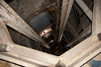 Phoenix Shot Tower - Interior of the tower, looking down