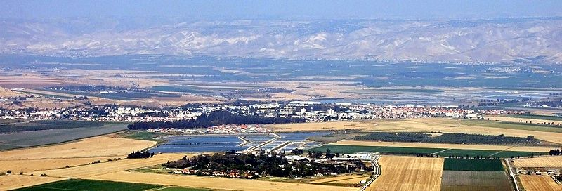 מבט ממערב על בקעת בית שאן והעיר