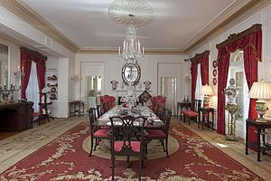 Bellingrath Gardens and Home - The formal dining room in the main house