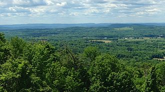 Warwick, New York - View of the Warwick Valley from Mt. Peter