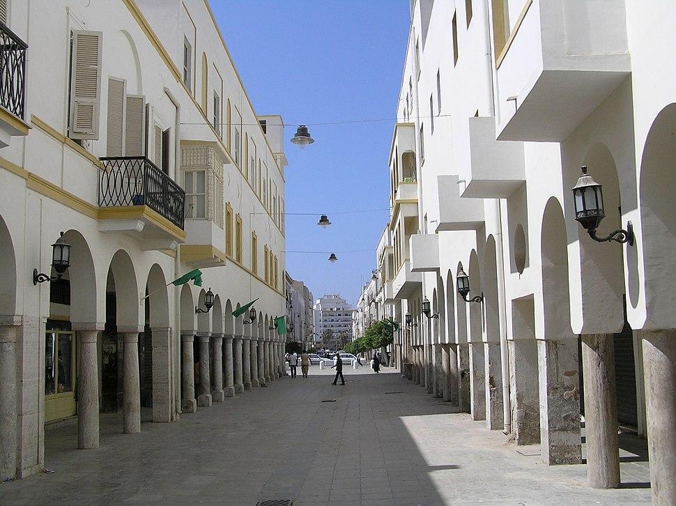 Benghazi. Omar Mukhtar Street