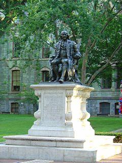 <i>Benjamin Franklin</i> (Boyle) sculpture by John J. Boyle