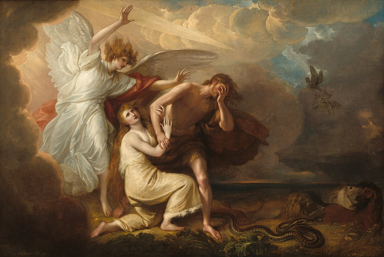 Image result for expulsion of adam and eve west