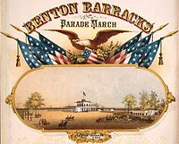 Benton Barracks, Parade March Poster, 1862.jpg