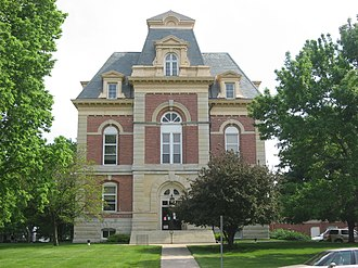 National Register of Historic Places listings in Benton County, Indiana - Image: Benton County Courthouse in Fowler