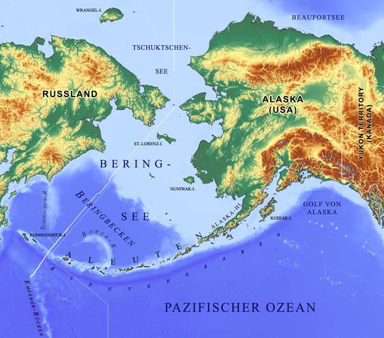 Lagekarte Beringsee