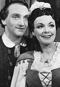 Bernhard Sönnerstedt og Isa Quensel i Figaros bryllup på Stora Teatern, Göteborg 1945.