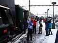Beroun, Křivoklát expres (prosinec 2012), po připojení lokomotivy.jpg