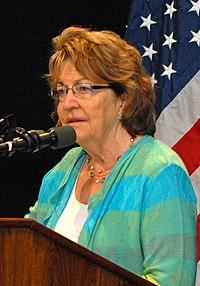 Betty Little addresses Citizen Preparedness Corps Training Program, SUNY Plattsburgh, June 14, 2014 (14449639782) (cropped).jpg
