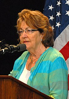 Betty Little addresses Citizen Preparedness Corps Training Program, SUNY Plattsburgh, June 14, 2014 (14449639782) (cropped).jpg