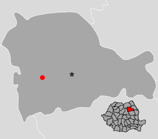Bicaz Town in Neamț County, Romania