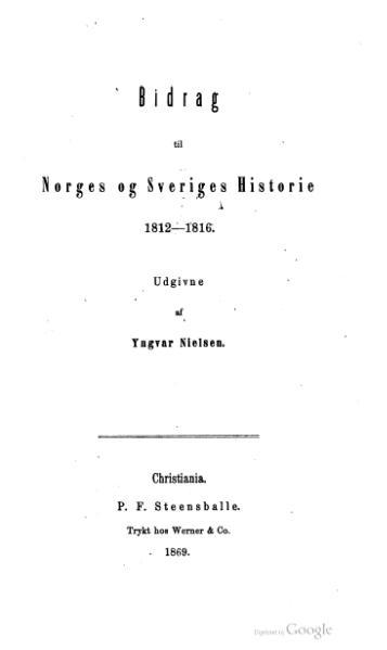 File:Bidrag til Norges og Sveriges Historie 1812–1816.djvu