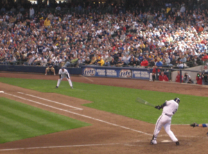 2007 Milwaukee Brewers season - Bill Hall hits a home run on opening day against the Dodgers
