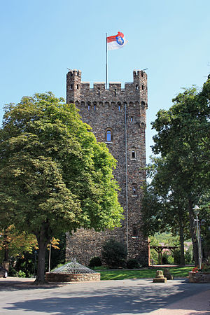 Klopp Castle - The rebuilt bergfried