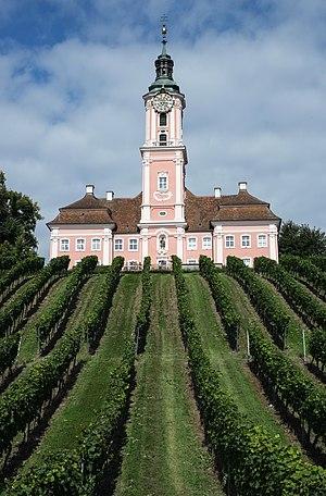 Pilgrimage church, Birnau, Uhldingen-Mühlhofen, Baden Wurttemberg, Lake Constance, Germany