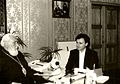 Bishop Irinej and Dejan Stojanovic, 1991.jpg