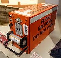 Black Box Cockpit Voice Recorder, Model AV557D, Sunderstrand Data Control, Inc., c. 1990s - National Electronics Museum - DSC00090.JPG