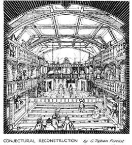 Blackfriars theatre conjectural reconstruction 1921.png