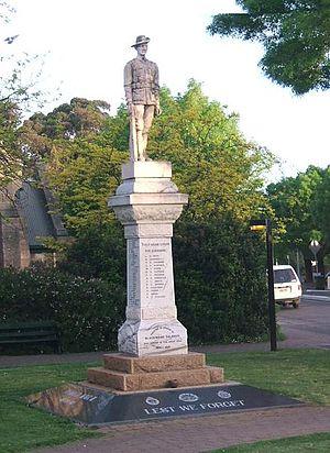 Blackwood, South Australia - Blackwood Soldiers' Memorial