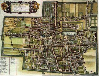 Gevangenpoort - Image: Blaeu 1652 's Gravenhage