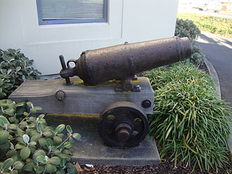 Wairau Affray - Blenkinsopp's Cannon outside the offices of Marlborough District Council in Blenheim