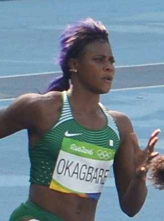 Blessing Okagbare - Okagbare during the 200m heat at the Olympic Games in Rio 2016