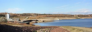 Geisel valley - The remeains of the pit mine were flooded to create recreational and natural areas.