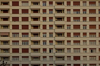 Renens - View of an apartment block in Renens