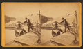 Boatman getting ready to go in water, from Robert N. Dennis collection of stereoscopic views.png
