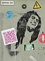 Bob Marley Graffito with Stickers - Old Town - Tartu - Estonia (35998404441).jpg
