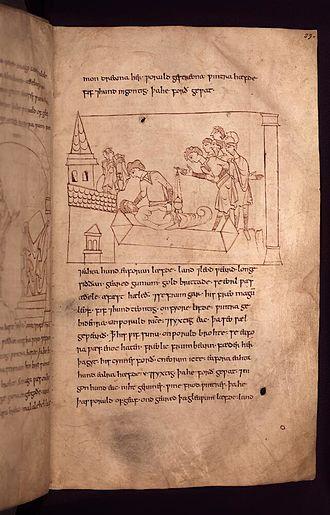 English Benedictine Reform - One of many line illustrations in the Junius manuscript