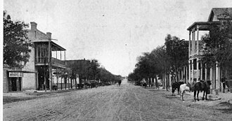 Boerne, Texas - Main Street in Boerne, Texas ca 1890-1900