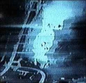 Operation Deliberate Force - Image taken by a U.S. aircraft upon hitting a Bosnian Serb target.