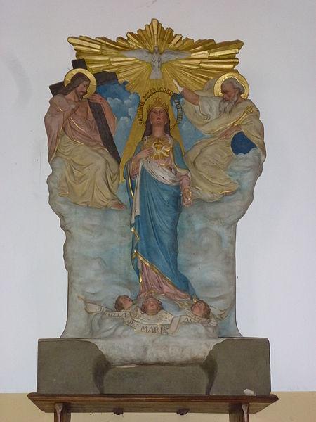 Bonningues-lès-Ardres (Pas-de-Calais) église, statue ascension de Sainte Marie