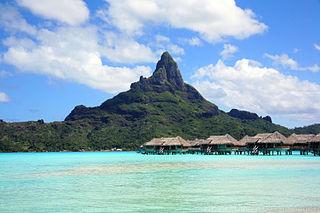 Leeward Islands (Society Islands) archipelago in French Polynesia