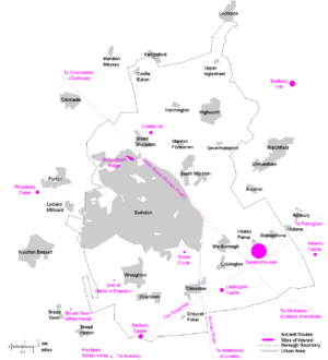 History of Swindon - A map of selected Historic Sites in the Borough of Swindon
