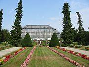 Das Tropenhaus im Botanischen Garten