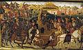 Bottega di paolo uccello, pannelli di cassone con armi medici e rucellai, firenze, 1466 ca. 05.JPG