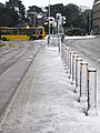 Bournemouth, bollards in snow - geograph.org.uk - 1150566.jpg