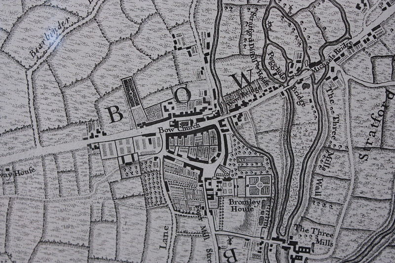 Bow as shown on John Rocque%27s map of London, 1747.JPG