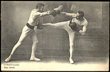 19th century picture of boxe française