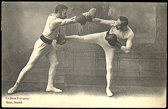 "Savate - French boxing ""tireurs"" in 1900"