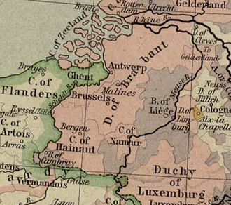 Duchy of Brabant - Duchy of Brabant and Prince-Bishopric of Liège (1477)