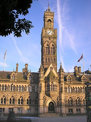 Frederick Delius - The Victorian Town Hall in Bradford, Yorkshire, the city where Delius was born and grew up